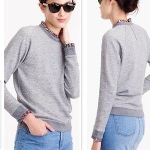 J.Crew Gray Pullover 3/4 sleeves